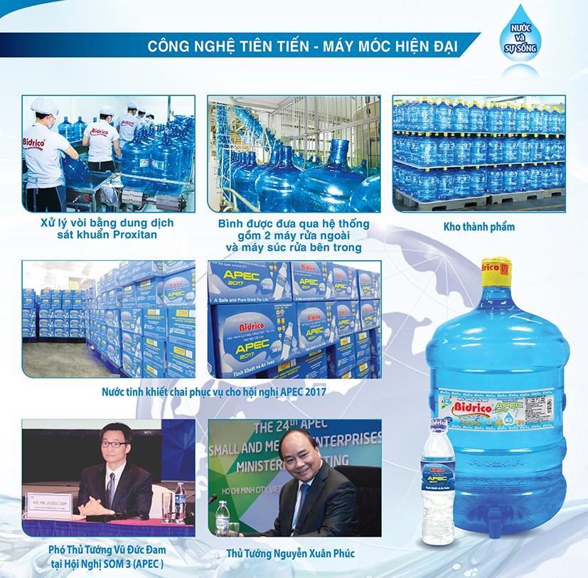 Hân hạnh là nước uống chính thức của Hội nghị Cấp Cao APEC 2017 tại Việt Nam