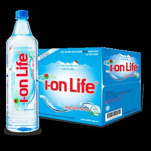 Thùng 12 chai nước ion Life 1,25 lít